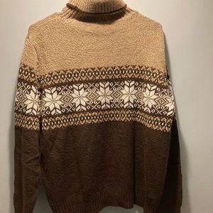 Carolyn Taylor brown turtleneck sweater size medium